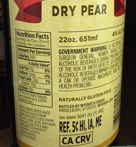 Wyder's Pear Label